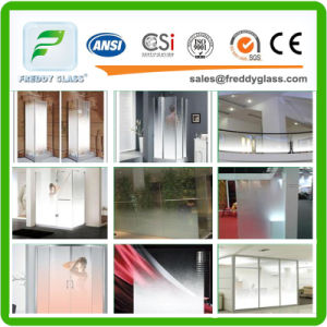 8mm-19mm Tempered Frosted Glass for Bathroom Door pictures & photos