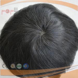 100% Human Short Hair Full Lace Base PU Edge Lace Front Mens Toupee (PPG-l-0894) pictures & photos
