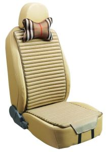Car Seat Cover Flat Shape Double Sides Use with Checked Flax and Pleuche-Beige pictures & photos