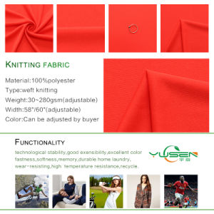 100% Polyester Moisture Wicking Interlock Knitted Fabric for Sportswear pictures & photos