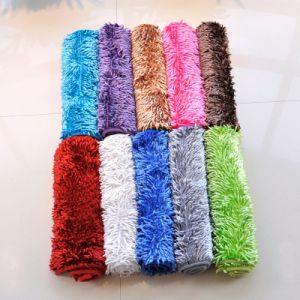 PVC Non Slip Shinny Shaggy Chenille Carpet