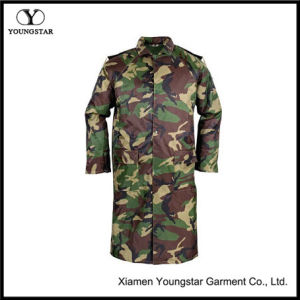 Waterproof Military Camouflage PVC Raincoat with Button Type pictures & photos