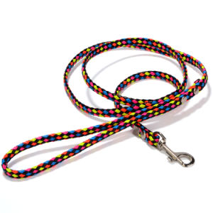 Colorful PU String Knitting Dog Leash Pet Collar Leads pictures & photos