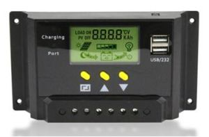 12V/24V 10A Solar Charge Controller with Dual USB Port pictures & photos