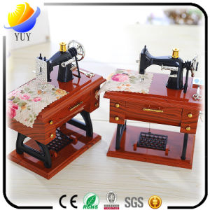 Retro Classic Sewing Machine Shaped Music Box pictures & photos