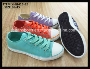Comfortable Women Canvas Shoe Injection Casual Shoes Footwear (XHH415-25) pictures & photos