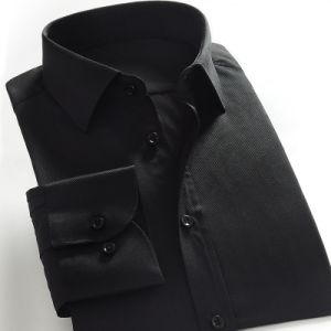 Men Black Formal Business Dress Shirt