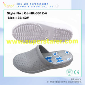 Women Style EVA Wedge Hospital Nursing Clog with Flower Printing Insole pictures & photos