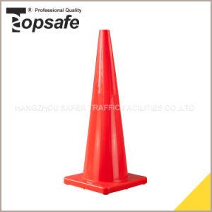 90cm Orange Color Soft PVC Traffic Cone (S-1233) pictures & photos