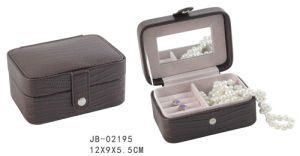 Promotion Brown PU Small Size Travel Jewelry Box pictures & photos