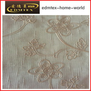Fashion Embroidered Organza Curtain Fabric EDM2036