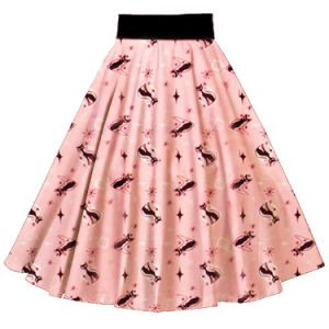 Latest Kitty Printing MIDI Full Circle Skirt for Girls pictures & photos