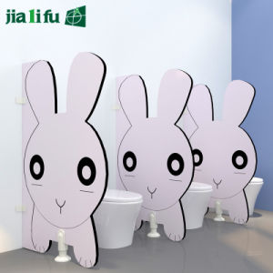 Pink Rabbit Lovely Kid Style Toilet Cubicle Partition pictures & photos