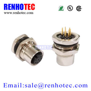 Types of Joints Metal Circular Plug Socket Front Mount M12 Connector pictures & photos