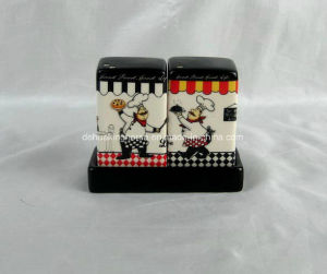 Square Salt&Pepper Shakers with Stand pictures & photos