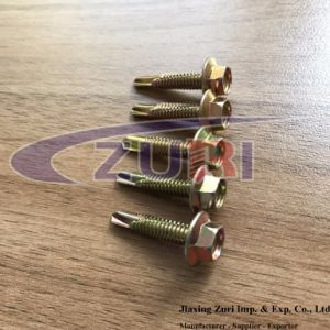 Hexagon Flange Screw Self Drilling Yellow pictures & photos