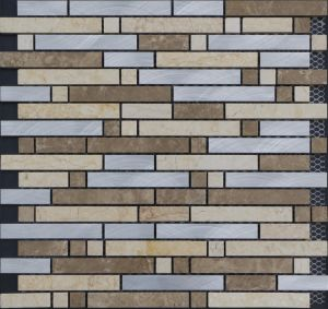 Metal Mix Marble Mosaic, Mosaic Tiles Prices in Jeddah pictures & photos