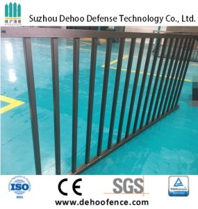 Ce/SGS Interpon Powder Coated Free Maintenance Classical Flat Top (2 Rails) Fence pictures & photos