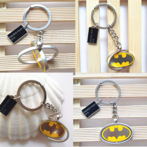 Marvel Metal Keychain Keyrings Metal Key Chains Rings Batman Rotating Pendant Key Rings pictures & photos