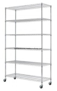 "6 Tier NSF Commercial Chrome Metal Wire Shelf Shelving Rack 18""X48""X82"" pictures & photos"
