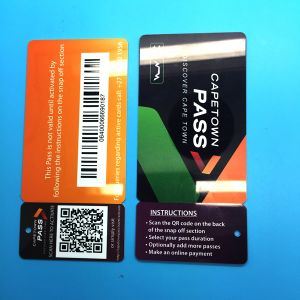Shopping Mall KeyCard with Plastic Keytag with barcode pictures & photos