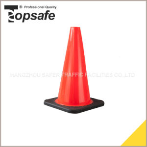 18 Inch Height Flexible PVC Cone with Black Base Injected by Interlock Way (S-1237) pictures & photos