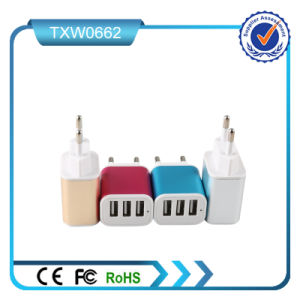 3 USB Ports EU Plug Wall Charger for Samsung pictures & photos