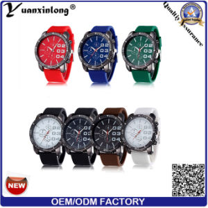 Yxl-188 Men′s Watch Big Dial Chronograph Casual Wrist Watch Mens Casual Military Quartz Watches Factory pictures & photos