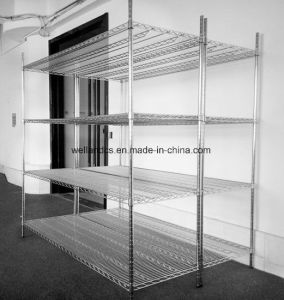 4 Shelves NSF Approved 350kgs Heavy Loading Warehouse Storage Metal Wire Shelf Shelving Racking pictures & photos