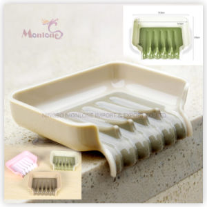 Bathroom Supplies Accessories Trickle Soap/Sponge Tray with Suction Cup pictures & photos