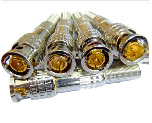 Full Copper Screw CCTV Video Accessories BNC Male Connector pictures & photos