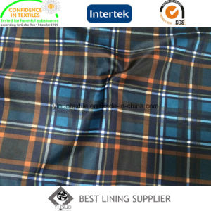 Polyester Men′s Suit Jacket Print Lining Fabric Classic Check Lining pictures & photos