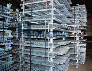 Foldable Metal Warehouse Storage Wire Mesh Cage pictures & photos