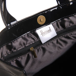 Medium Size Black PVC PU Shoulder Bag (H009) pictures & photos