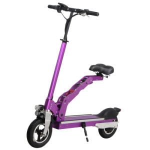 Wholesale Electric Two Wheels Folding Scooter with Saddle