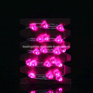 Pink Heart String Lights Portable AA Battery Powered Starry Night Ledshort 6 FT Easy Decorative Settings pictures & photos