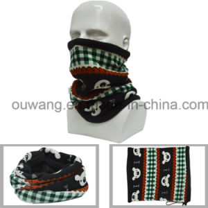 Fashion Bear Printed Multifunctional Warm Knitting Tube Neck Warmer scarf pictures & photos
