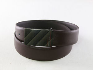Cross Pattern Custom Import Black Leather Belt pictures & photos