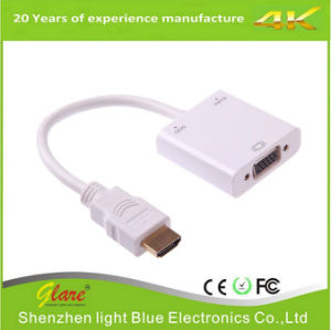 HDMI to VGA Converter Cable with Power & Audio pictures & photos
