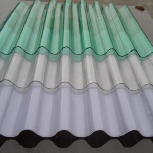 Ge Lexan Clear Building Materials Corrugated Color Coated Roofing Sheet pictures & photos