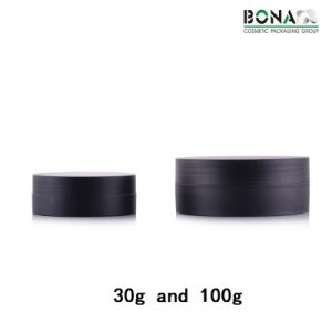 30g High End Matte Finish Black Jar Large Diameter Jar pictures & photos