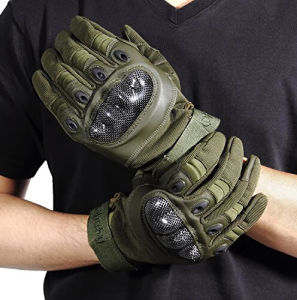 Airsoft Full Finger Tactical Combat Gloves with Logo pictures & photos
