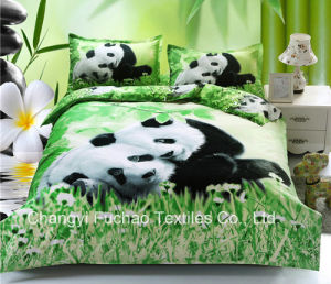 100% Polyester Microfiber Disperse 3D Bedding Sets pictures & photos