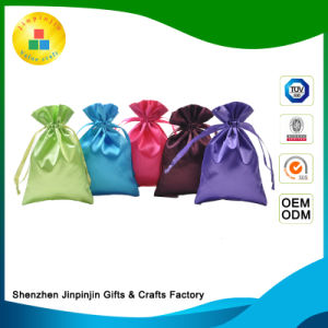 Custom Promotional Satin Drawstring Gift Bag for Packing/Packaging