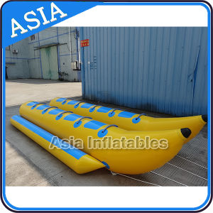 Double Row 10 Persons Inflatable Float Water Banana Boat with 2 Tubes for Sale pictures & photos