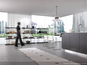 Grey Colored Modern Home Bar pictures & photos
