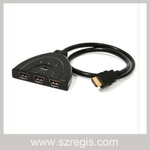 Pig Tail 1X3 HDMI Switch Hub with Multifunction Splitter Function pictures & photos