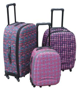 Soft Inside Trolley Case Luggage with Universal Wheel 600d pictures & photos