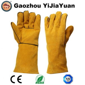 Ce En12477 Leather Protection Safety Hand Welding Glove with Kevlar Thread pictures & photos