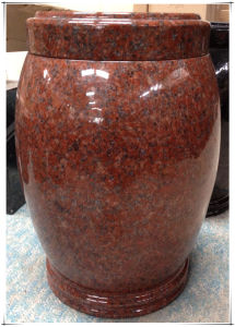 Supply The Cremation Urns with Red Granite Material pictures & photos
